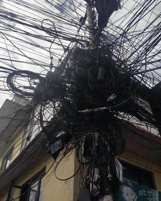 केबुल नेटवर्कका तार काटिए